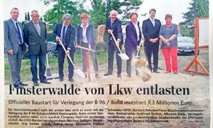 Finsterwalde von LKW entlasten