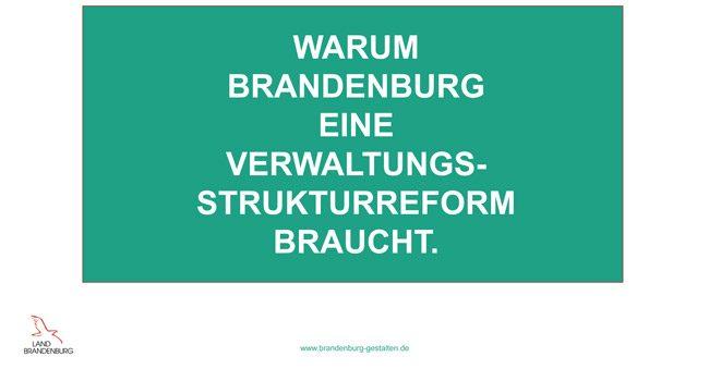 Was ist die Verwaltungsreform und warum ist sie richtig für Brandenburg?