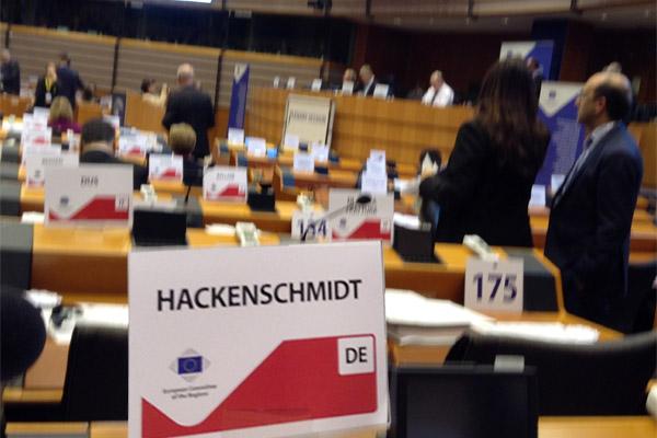 Barbara Hackenschmidt bei der Plenartagung des AdR