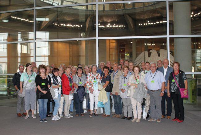 Am 30. August war ich mit einer Besuchergruppe im Bundestag zu Gast.