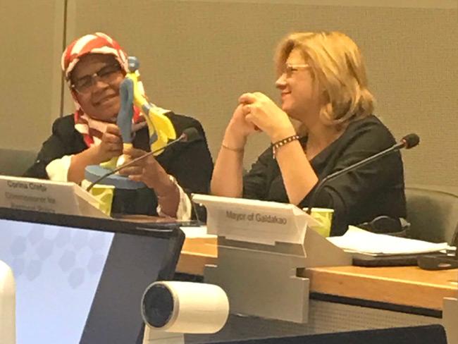 Diskussion zum Weltfrauentag mit der Kommissarin Corina Cretu am 7.3.2019 in Brüssel.