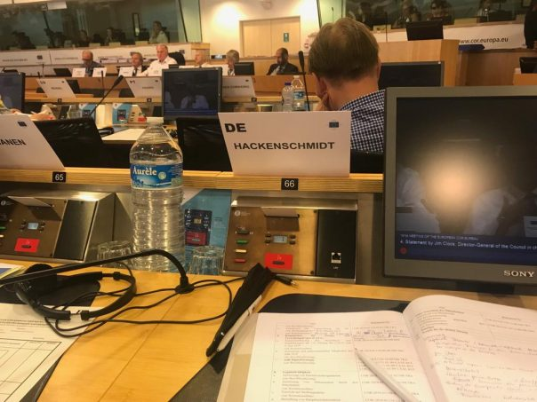 Heute beim Europäischen Ausschuss der Regionen (AdR) in Brüssel.